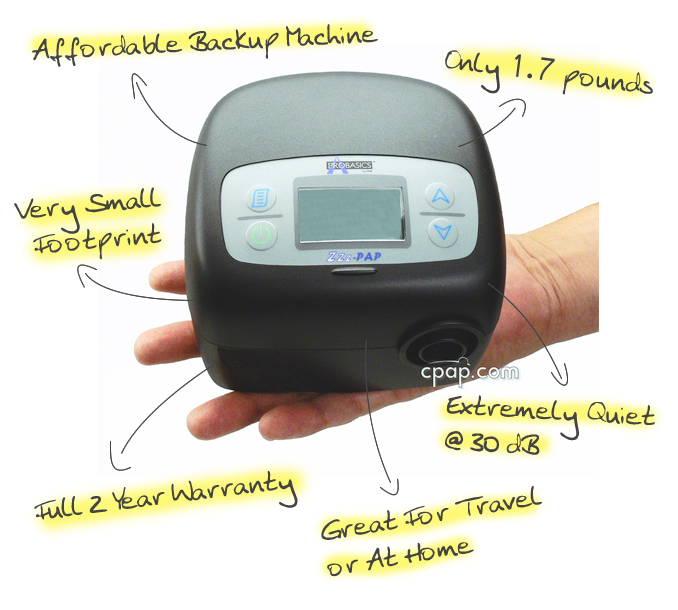 image of Zzz-PAP Silence Traveler and its features.