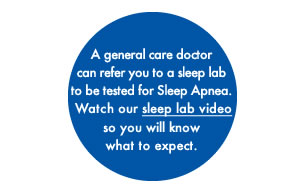 A study in a sleep lab is necessary to determine if you have OSA.